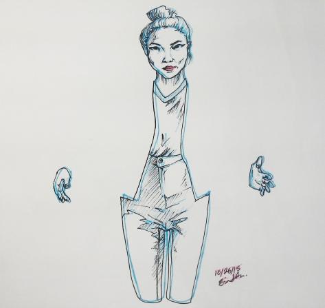 Pen on paper, 8